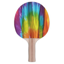 Tie Dye Fabric Print Ping Pong Paddle