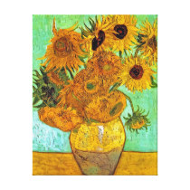 Vincent Van Gogh Twelve Sunflowers Canvas Print